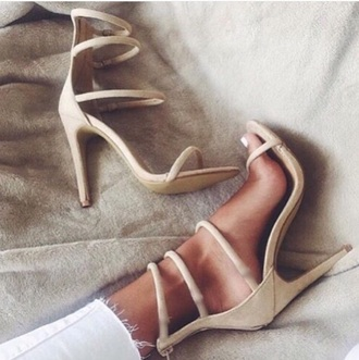 shoes nude heels nude high heels girly beige strappy heels nude heels high heel sandals suede shoes