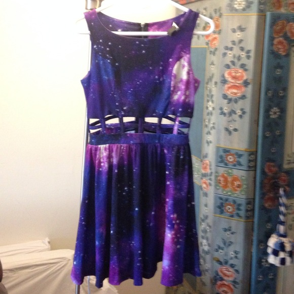 Sold forever 21 galaxy cut out dress from hanna's closet on poshmark