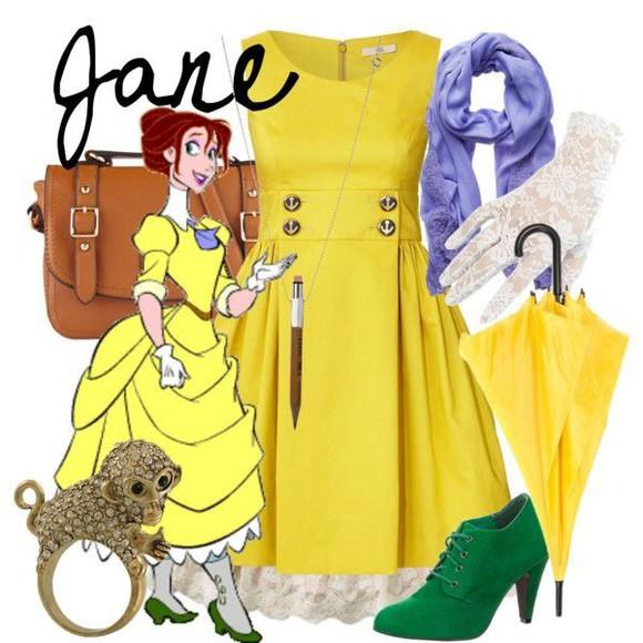 disney clothes yellow yellow dress
