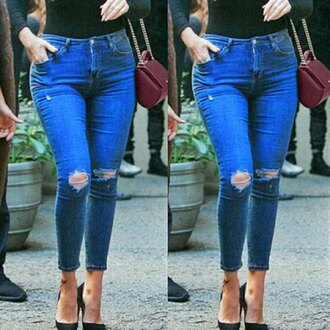 jeans rose wholesale denim streetwear style high waisted jeans stylish