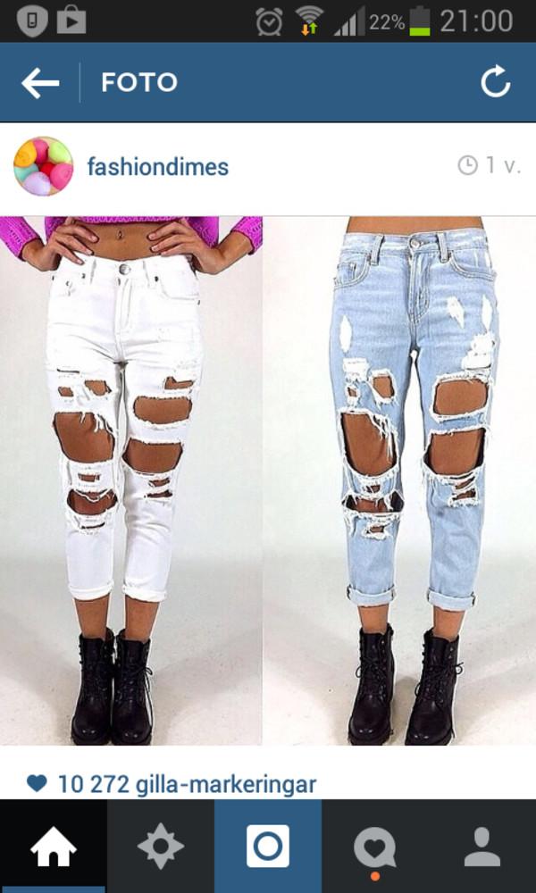 jeans ripped ripped jeans nice ripped jeans white