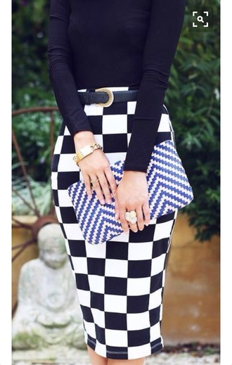 skirt black and white office outfits