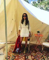 dress,white,white dress,lace dress,lace,coachella,coachella outfit,instagram,emma roberts