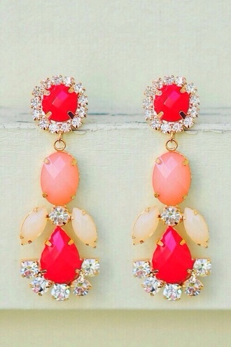 jewels earings pink