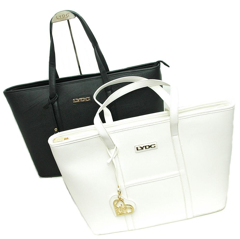 LYDC LONDON© Sommer Luxus Shopper Damen Schulter Handtasche in Schwarz oder Weiß | eBay