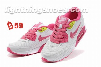 shoes nike white pink air max sneakers sports shoes