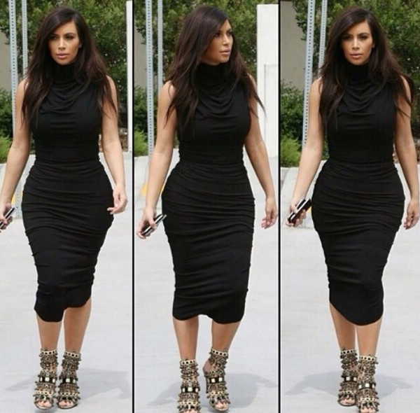 kim kardashian dress black dress