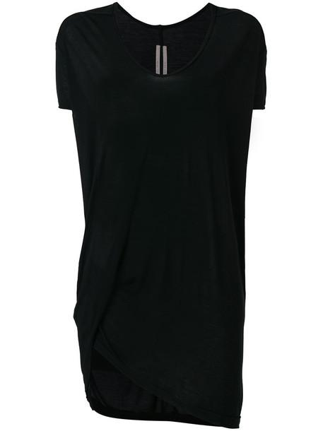 Rick Owens t-shirt shirt t-shirt loose women fit black silk top