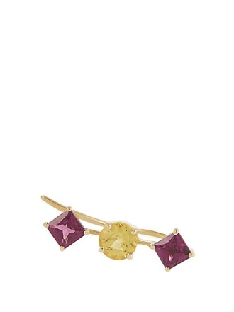 cuff ear cuff gold yellow jewels