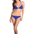 Michael Kors Byzance Solids Triangle Bikini Set (Sapphire) - Sale