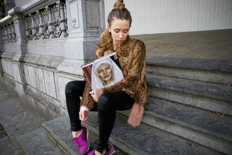 vasilieva blogger faux fur winter jacket
