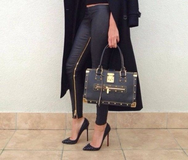 37dca755bba ♥ Genuine Balmain black/gold Zip lambskin leather leggings 8/10/36 RRP  £1200 ♥