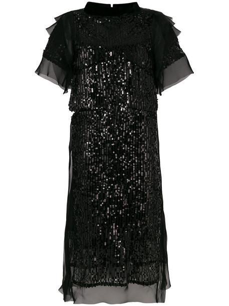 Sacai dress shift dress women black
