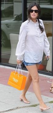 rachel bilson,shorts,shirt,shoes