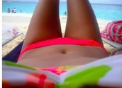 swimwear,neon pink green white beach bikini sun summer