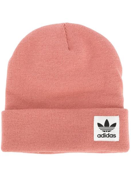 Adidas women beanie purple pink hat