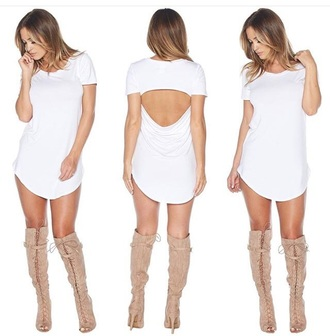 dress date outfit cute dress boots booties open back white dress suede boots knee high boots beige boots lace up boots heel boots