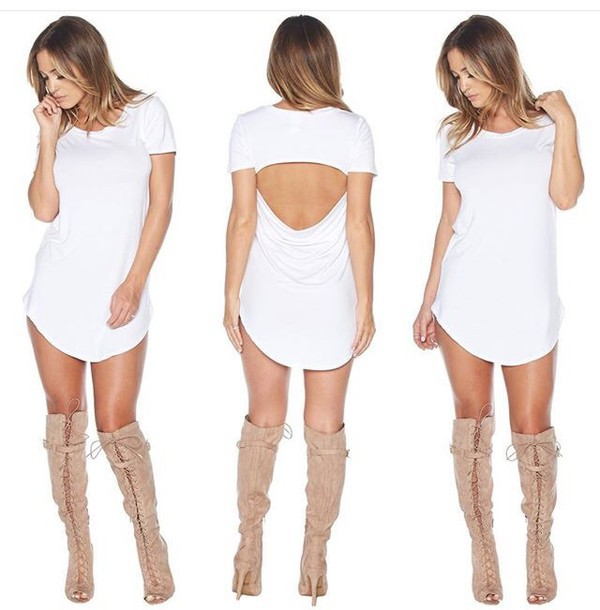 Beige lace dresses with boots