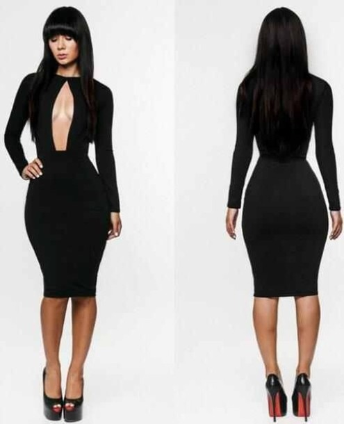 Baddie bodycon dress clubwear sexy dress vneck deep v neck dress
