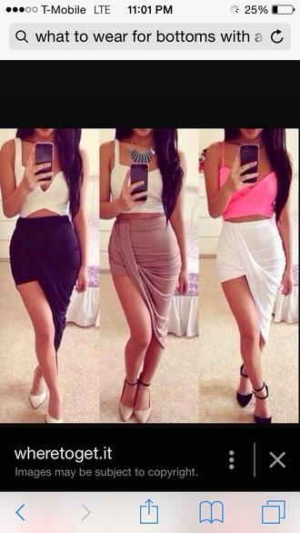 blouse pink crop top bustier skirt sexy skirt half skirt bethany mota bedding
