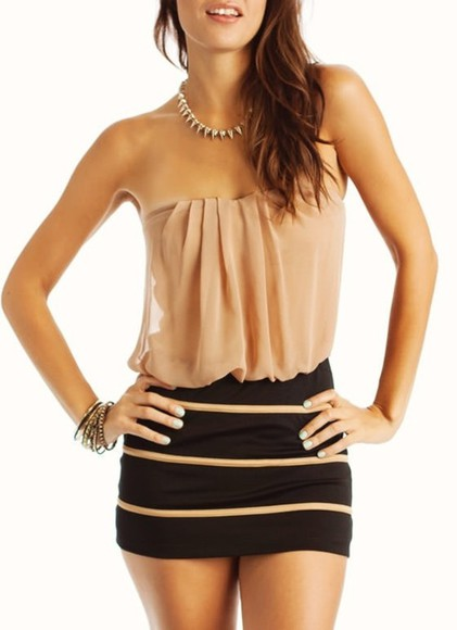 dress brown dress little black dress beautiful jewels t-shirt floaty top jewelry striped skirt