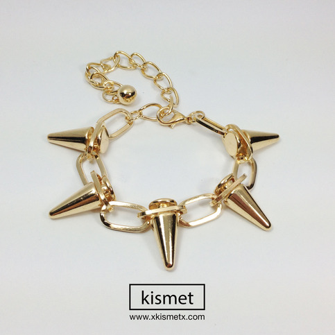 Gold Chain Spike Bracelet · kismet · Online Store Powered by Storenvy