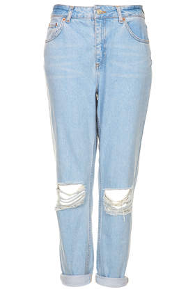 MOTO Blue Ripped Mom Jeans - Jeans - Clothing - Topshop