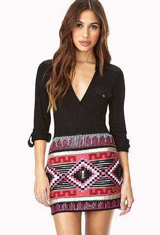 Regal Sequined Mini Skirt | FOREVER21 - 2000125656