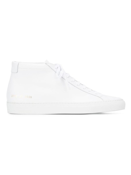 Common Projects women sneakers lace leather white shoes