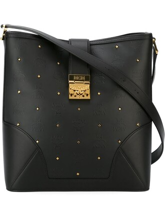 studs bag shoulder bag black