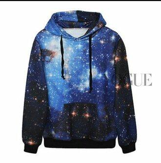 sweater galaxy sweater blue sweater