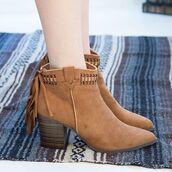 shoes,boots,booties,tassel,western,boho,sxsw,desert,qupid