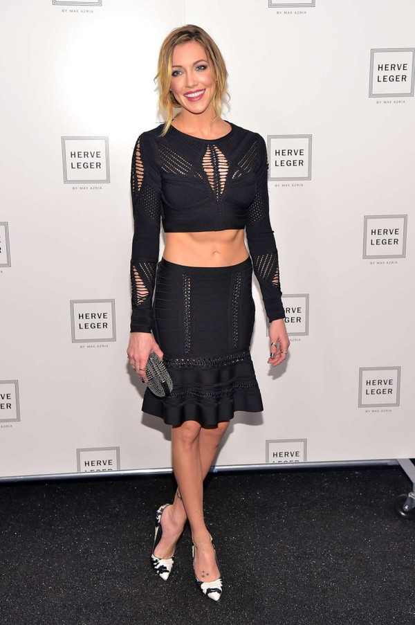 top skirt crop tops katie cassidy fashion week 2014