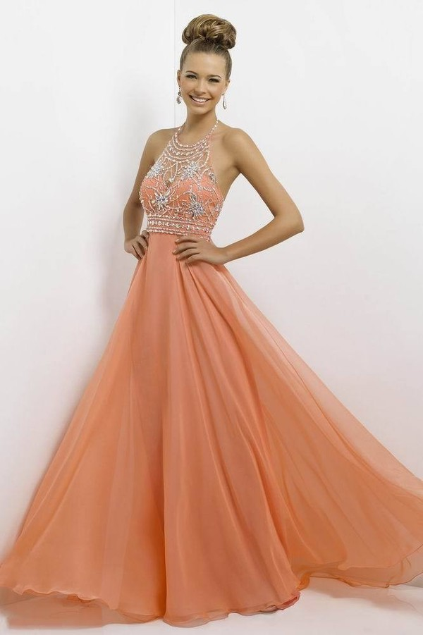 chiffon dress long dress evening dress party dress beaded dress halter dress orange dress summer dress sale dress a line dress crystal dress red carpet hot dress evening dress backless dress design  dresses women dress dress