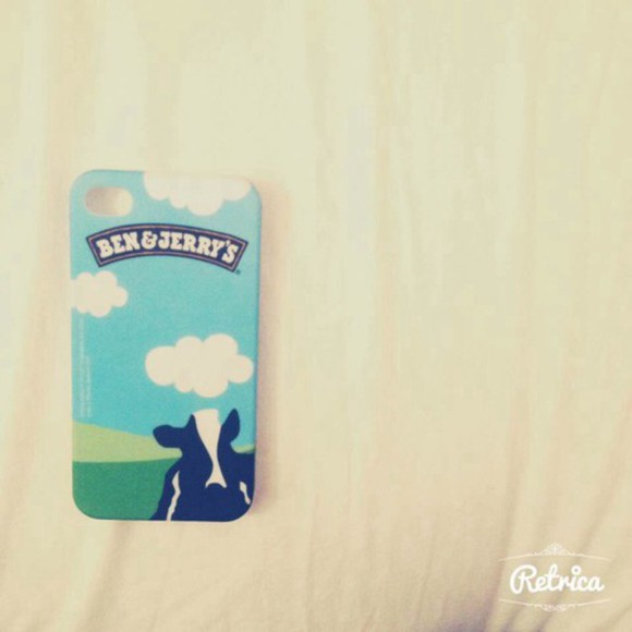 phone case iphone case cow ben jerry ben and jerry's ice cream clouds funny