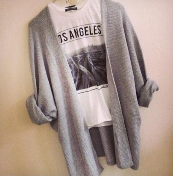 sweater cars shirt grey los angeles traffic highway black white t-shirt