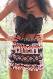 shirt,bow,skirt,clothes,hippie,top,shorts