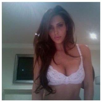 kim kardashian white bra lace bra