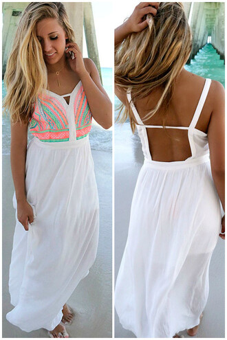 dress amazinglace.com amazinglace summer beach white maxi dress embroidered