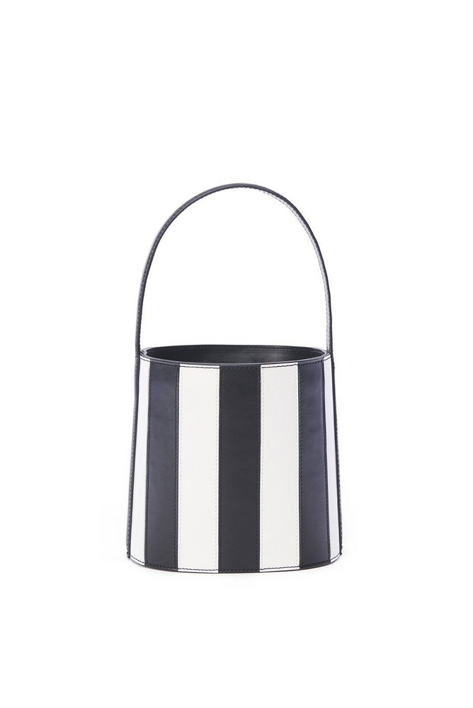 Staud BISSETT BAG | BLACK WHITE STRIPE