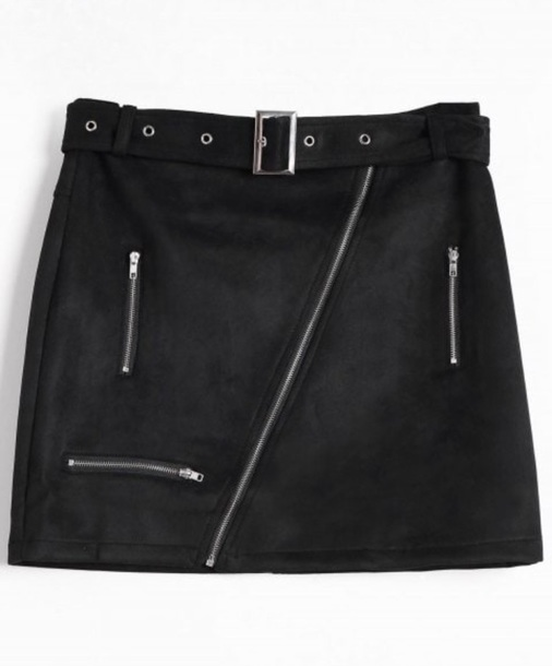 skirt girly black suede suede skirt zip zipped skirt mini mini skirt