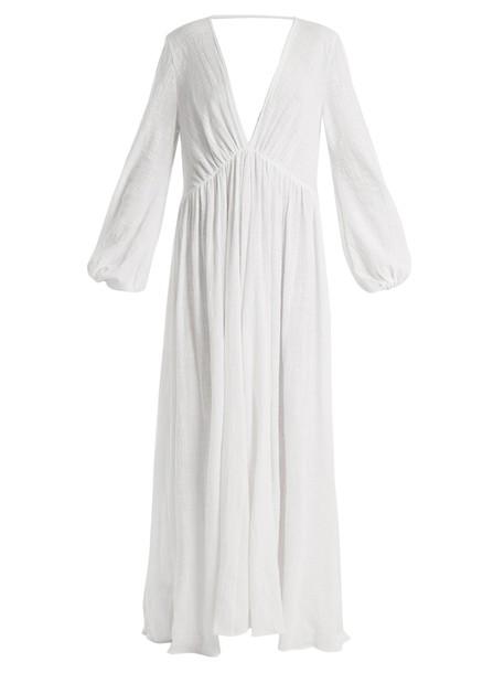KALITA dress maxi dress maxi cotton white