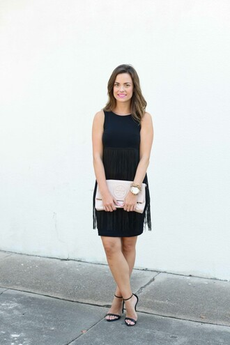 live more beautifully blogger dress make-up shoes bag jewels