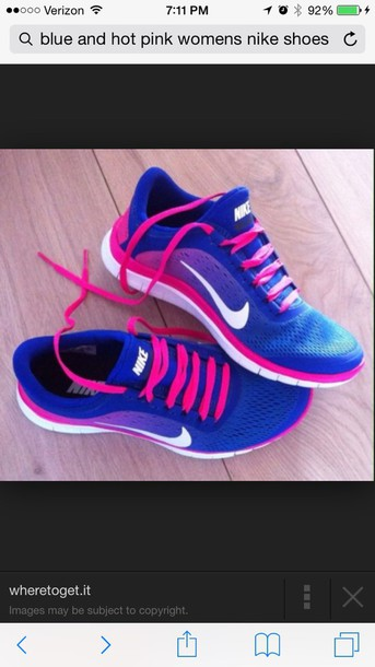 shoes nike blue and pink shoes