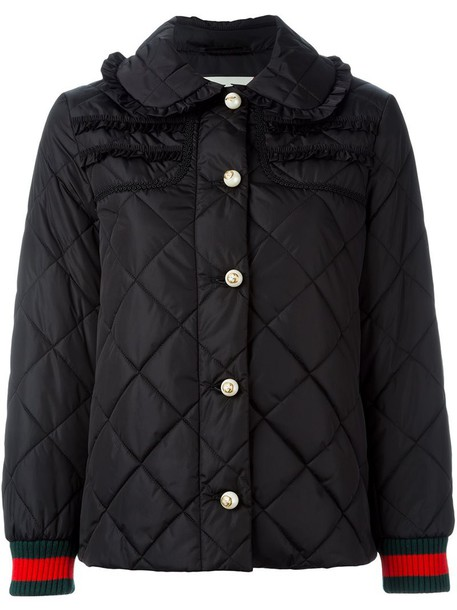 gucci jacket puffer jacket women black