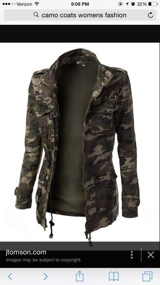 coat camo jacket