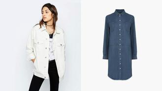 jacket white jacket white denim white denim jacket boyfriend jacket jeans denim dress shirt dress