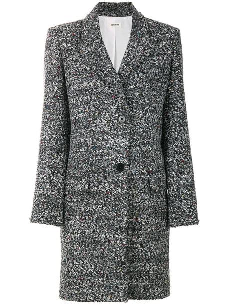 Zadig & Voltaire coat women wool grey