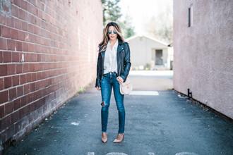 fashionborn blogger jacket blouse shoes bag sunglasses