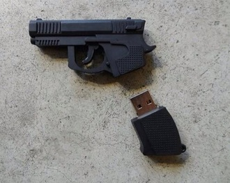 home accessory black black cle usb gun cool grunge kill style technology